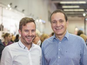 Christoph Huebner und Markus Herrmann auf der BabyWelt in Stuttgart